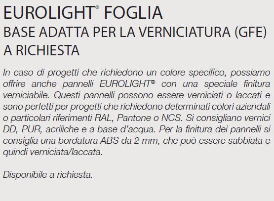 EUROLIGHT® FOGLIA - SPECIFICHE
