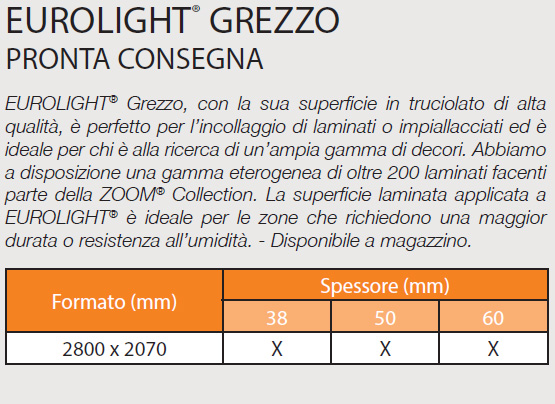 EUROLIGHT® GREZZO - SPECIFICHE
