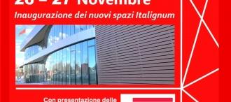 EVENTO: 26 e 27 Novembre _ Inaugurazione nuovi spazi Italignum