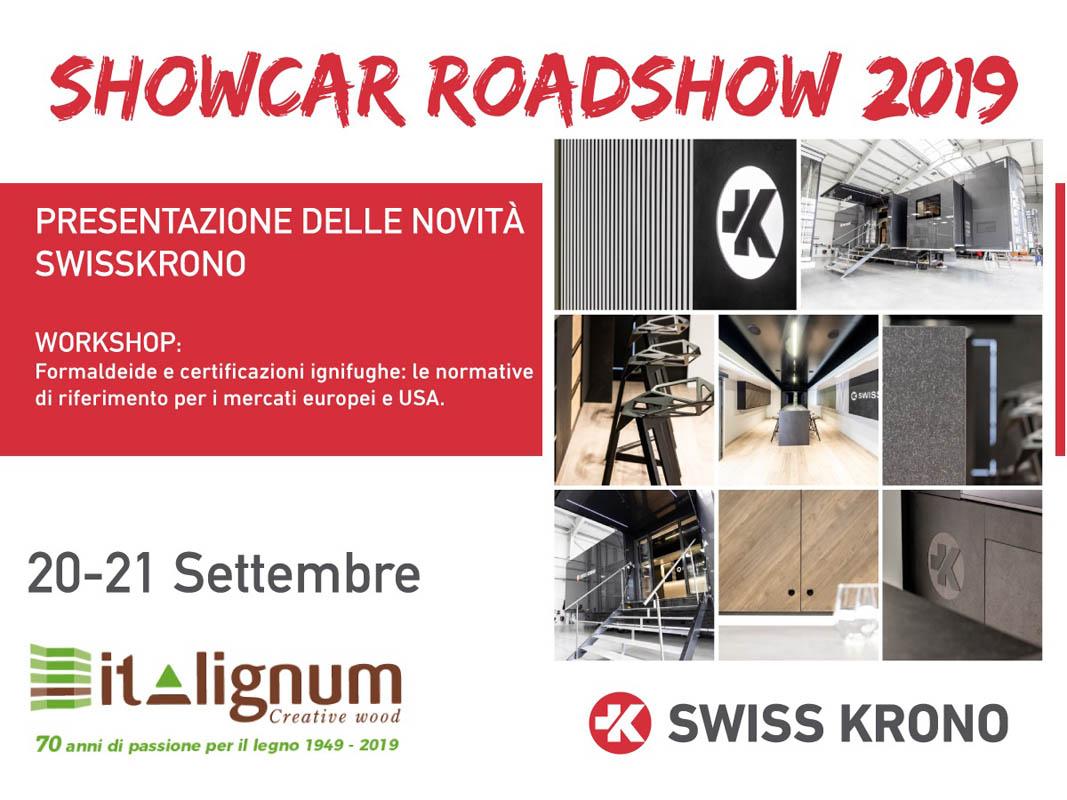 Pannelli Legno Senza Formaldeide italignum presenta showcar roadshow 2019